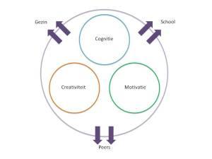 De persoonlijkheid wordt zwakker doordat de omgevingsfactoren uit  het Mönks model niet stimulerend zijn voor het kind
